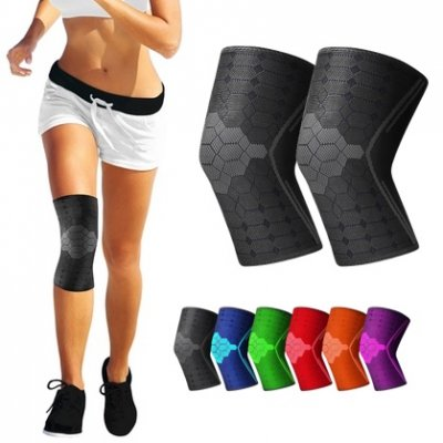 Knee protection with compression and anti-slip