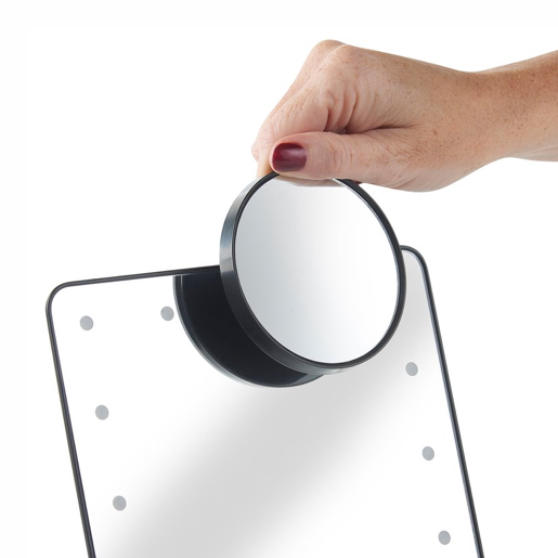 Make-up mirror with LED-lights